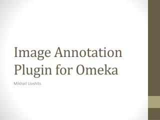 Image Annotation Plugin for  Omeka