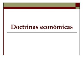 Doctrinas Econ??micas