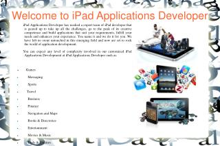 iPad Application Developer