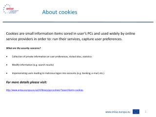 About cookies