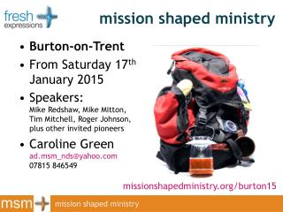 mission shaped ministry