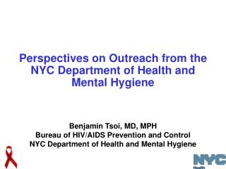 Perspectives on Outreach from the NYC Department of Health and Mental Hygiene