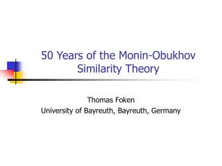 50 Years of the Monin-Obukhov Similarity Theory