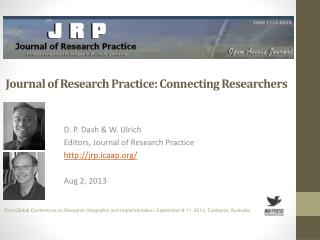 Journal of Research Practice: Connecting Researchers