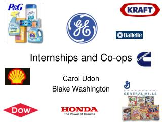 Internships and Co-ops