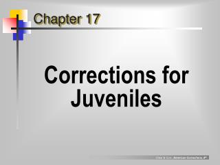 Corrections for Juveniles