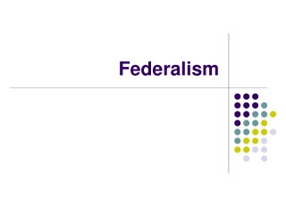 The economics of federalism and taxation