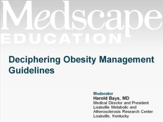 Deciphering Obesity Management Guidelines