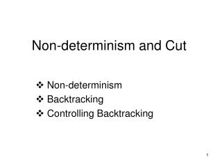 Non-determinism and Cut