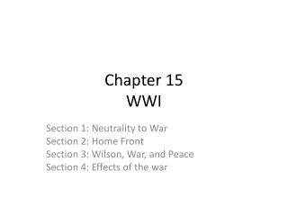 Chapter 15 WWI
