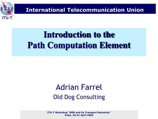 Introduction to the Path Computation Element