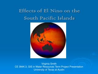Effects of El Nino on the South Pacific Islands