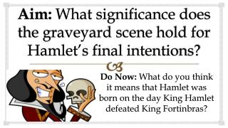 Aim:  What significance does the graveyard scene hold for Hamlet's final intentions?