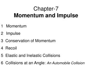 Chapter-7 Momentum and Impulse