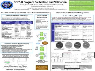 GOES-R  Program Calibration and Validation