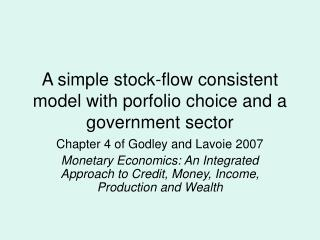 A simple stock-flow consistent model with porfolio choice and a government sector