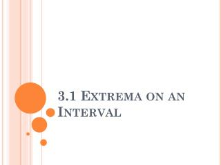 3.1  Extrema  on an Interval