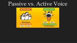 Passive vs. Active Voice