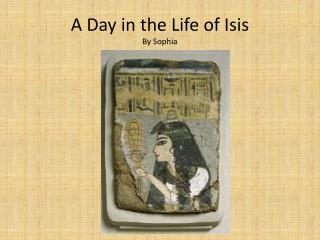 A Day in the Life of Isis By Sophia