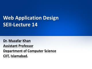 Web Application Design SEII-Lecture 14