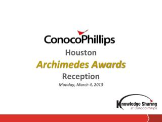 Houston Archimedes Awards Reception