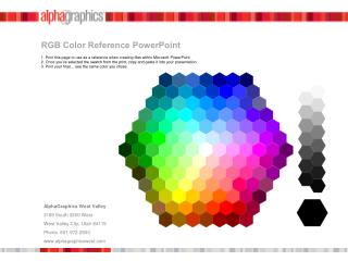 RGB Color Reference  PowerPoint