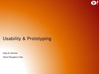 Usability  &  Prototyping
