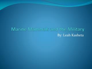 Marine Mammals and the Military