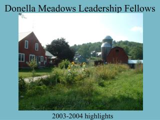 Donella Meadows Leadership Fellows