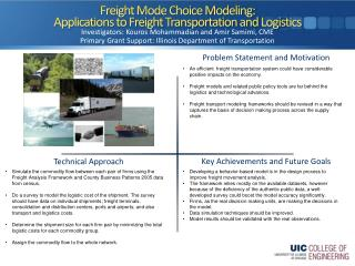 Freight Mode Choice Modeling:  Applications to Freight Transportation and Logistics