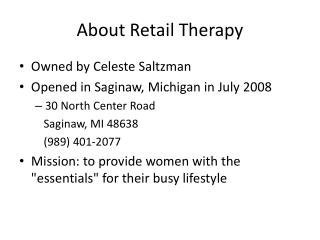 About Retail Therapy