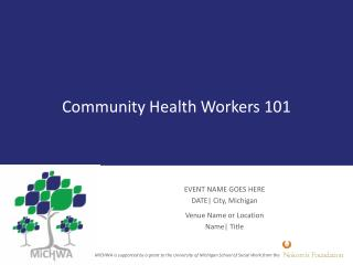 Community Health  Workers 101