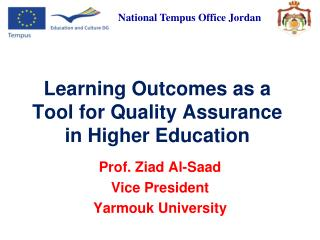 Learning Outcomes as a Tool for Quality Assurance in Higher Education