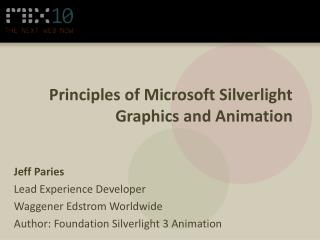 Principles of Microsoft Silverlight Graphics and Animation