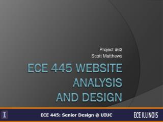 ECE 445 Website Analysis and Design