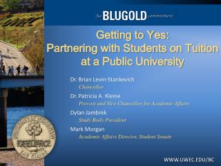Getting to Yes:  Partnering with Students on Tuition at a Public University
