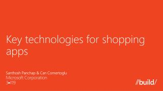 Key technologies for shopping a pps