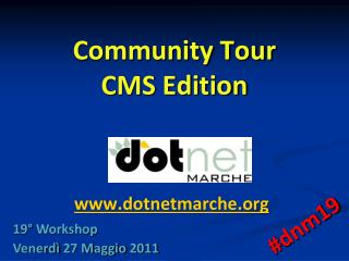 Community Tour CMS Edition