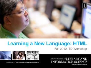Learning a New Language: HTML