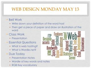 Web Design Monday May 13