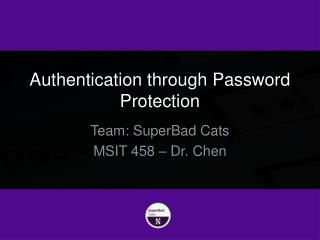Authentication through Password Protection