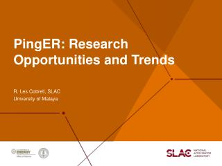 PingER : Research Opportunities and Trends