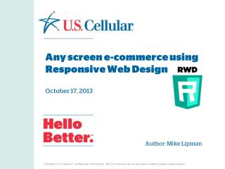 Any screen e-commerce using Responsive Web Design October 17, 2013