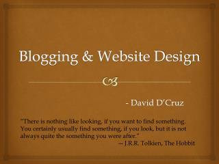Blogging & Website Design