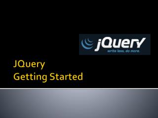 JQuery Getting Started