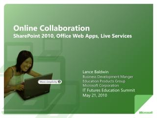Online Collaboration SharePoint 2010, Office Web Apps, Live Services