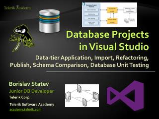 Database  Projects  in Visual Studio