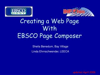 Creating a Web Page  With EBSCO Page Composer