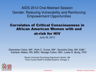 AIDS 2012 Oral Abstract Session