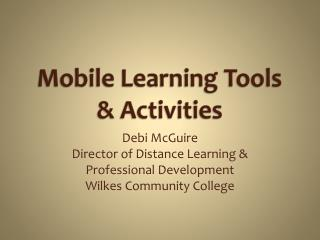 Mobile Learning Tools & Activities